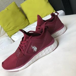 Burgundy Oxford Polo Athletic Shoes
